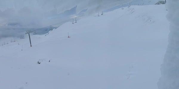 Sneen har lagt sig flot og hvidt over Alpe d'Huez