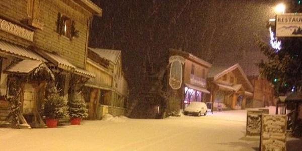 Det sner i Alpe d'Huez