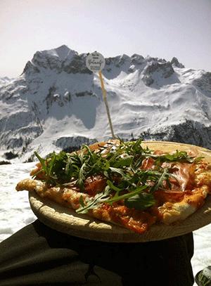 Mine favoritter er Hütten Pizzaen og Rucola Pizzaen