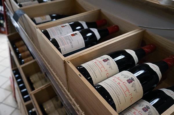 Blot et lille udvalg af de franske vine