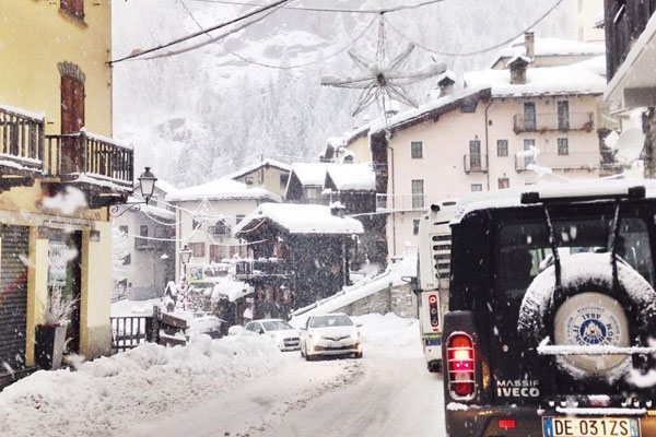 Cervinia i Italien har fine sneforhold