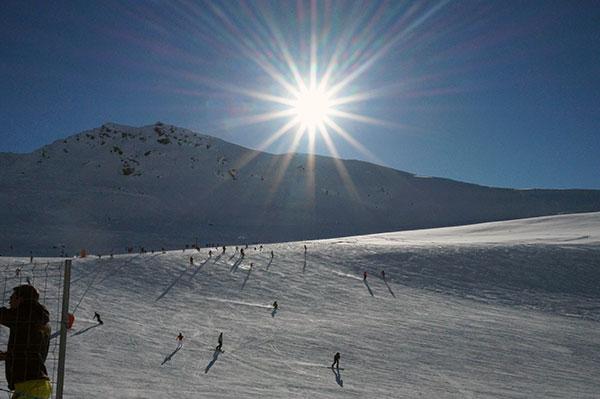 En af de mange solskinsdage i Val Thorens