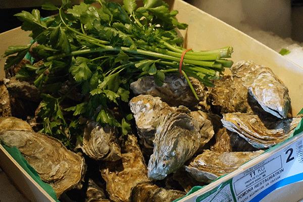 Lækre friske østers i Val Thorens
