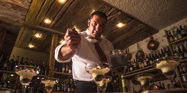 Bivio Cantina - her ses dessert-kokken Roby der serverer luksus på din tallerken