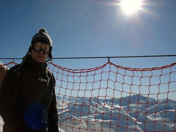 Udsigten over Schindler Spitze i 2660 meters højde