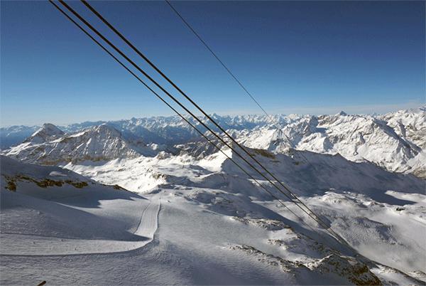 Verdens 3. bedste pist har liften med verdens måske bedste udsigt.