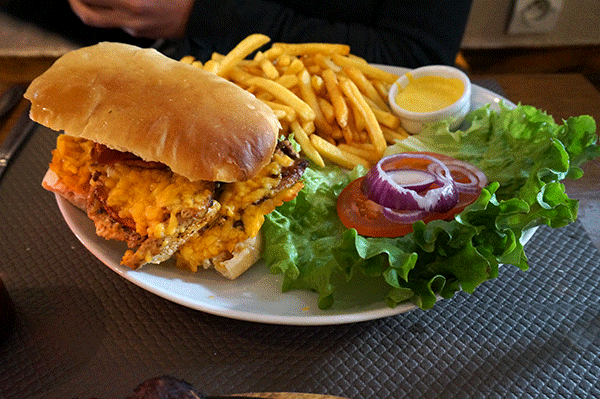 En burger fra Johns American