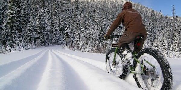 Fatbikes - kør på mountainbike i sneen i Montgenevre