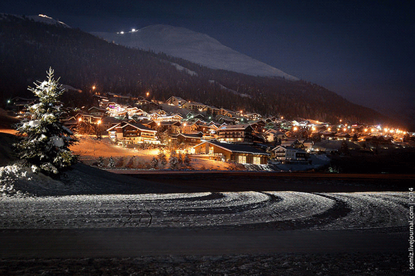 Livigno by night.