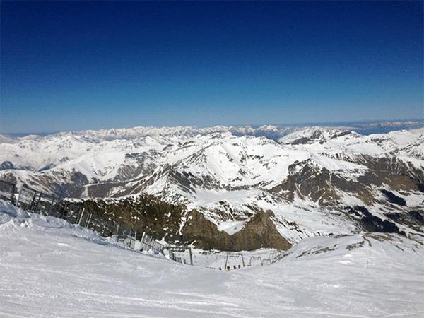 Udsigt fra bjergene i Zillertal