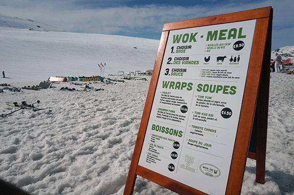 Wok skis menu